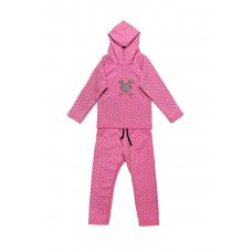 Трикотажный костюм для девочки Модный карапуз (03-00781-0)