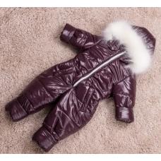 Зимний сдельный комбинезон на овчине Natalie Bordo