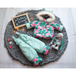 Детский зимний костюм-комбинезон на овчине Natalie Арбузики