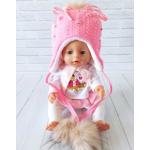 Детская зимняя шапка Киндер Луиза Коралловый