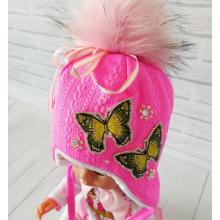Детская зимняя шапка Киндер Луиза Малиновый