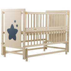 Кровать Babyroom Звездочка Z-02 маятник, откидной бок, Слонов