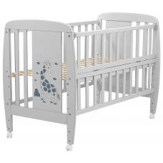 Кровать Babyroom Жирафик откидной бок, колеса DJO-01 Бук Серы