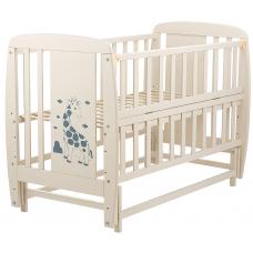 Кровать Babyroom Жирафик маятник, откидной бок DJMO-02 Бук Сл