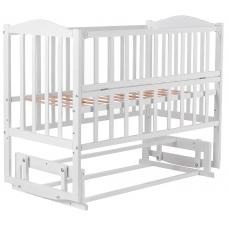 Кровать Babyroom Зайчонок ZL201 маятник, откидной бок, Белый