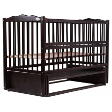 Кровать Babyroom Веселка маятник, откидной бок DVMO-2 Бук вен