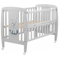 Кровать Babyroom Собачка откидной бок, колеса DSO-01 Бук Серы