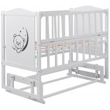 Кровать Babyroom Тедди Т-02 фигурное быльце, маятник, откидно