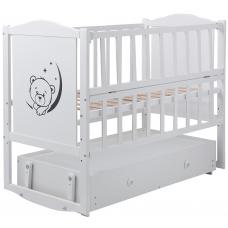 Кровать Babyroom Тедди Т-03 фигурное быльце, маятник, ящик, о