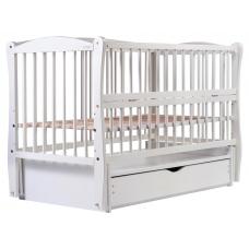 Кровать Babyroom Еліт маятник, ящик, откидной бок DEMYO-5 Бел