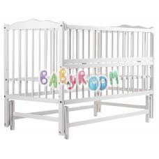 Кровать Babyroom Веселка маятник, откидной бок DVMO-2 Бук Бел