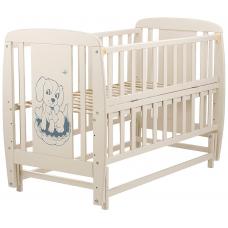 Кровать Babyroom Собачка маятник, откидной бок DSMO-02 Бук Сл