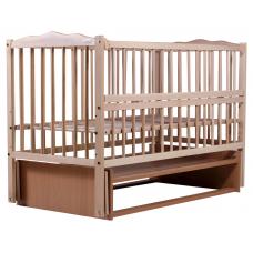 Кровать Babyroom Веселка маятник, откидной бок DVMO-2 Бук све