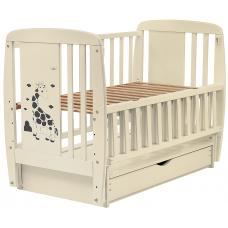 Кровать Babyroom Жирафик маятник, ящик, откидной бок DJMYO-3