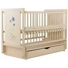 Кровать Babyroom Медвежонок M-03 маятник, ящик, откидной бок,