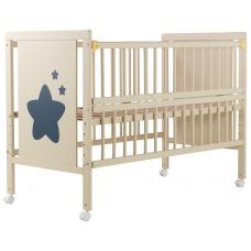 Кровать Babyroom Звездочка Z-01 откидной бок, колеса, Слонова