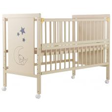 Кровать Babyroom Медвежонок M-01 откидной бок, колеса Бук сло