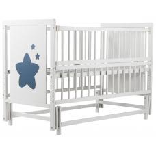 Кровать Babyroom Звездочка Z-02 маятник, откидной бок, Белый