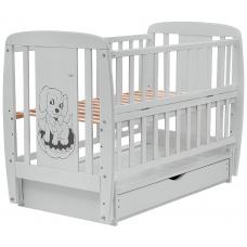 Кровать Babyroom Собачка маятник, ящик, откидной бок DSMYO-3