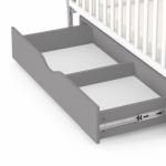 Детская кроватка с маятником и ящиком Carrello Alba Белый-Серый