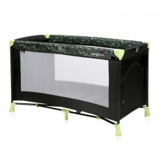 Манеж-кроватка Lorelli Verona 1L Black-green dots