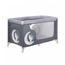 Манеж-кроватка Bertoni Moonlight 1L Grey cute moon