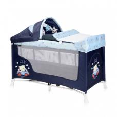 Манеж-кроватка Lorelli San Remo 2L+ Blue bear
