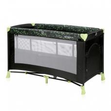 Манеж-кроватка Bertoni Verona 2L Black-green dots