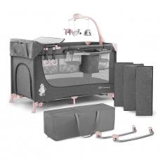 Кровать-манеж с пеленатором Kinderkraft Joy Pink (KKLJOYPNK00