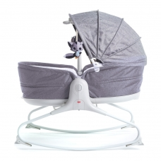 Кресло-качалка с капюшоном 3 в 1 Tiny Love Мамина любовь Серы