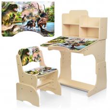 Детская парта с надстройкой и стулом Bambi B 2071-91-3(UA) Ди
