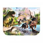Детская парта с надстройкой и стулом Bambi B 2071-91-3(UA) Динозавры Венге светлый
