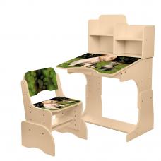 Детская парта с надстройкой и стулом Bambi B 2071-90-2(EN) Ко