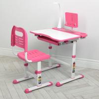 Детская парта со стулом и лампой Bambi M 4428-8 Розовый