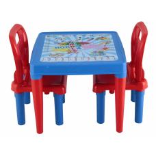 Стол с двумя стульчиками Pilsan (03-414) Голубой