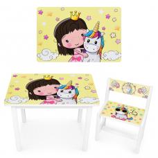 Столик со стулом Vivast BSM1-31 Принцесса