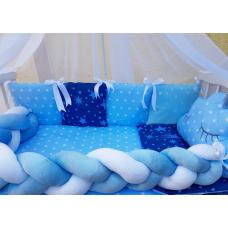 Постельный комплект ТМ Bonna Koss Звезды Синий с голубым