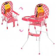 Стульчик для кормления Bambi GL 217С-909 Розовый