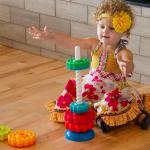 Пирамидка винтовая тактильная Fat Brain Toys SpinAgain (F110ML)