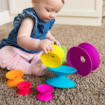 Пирамидка Башня из цветных катушек Fat Brain Toys Spoolz (F181ML)