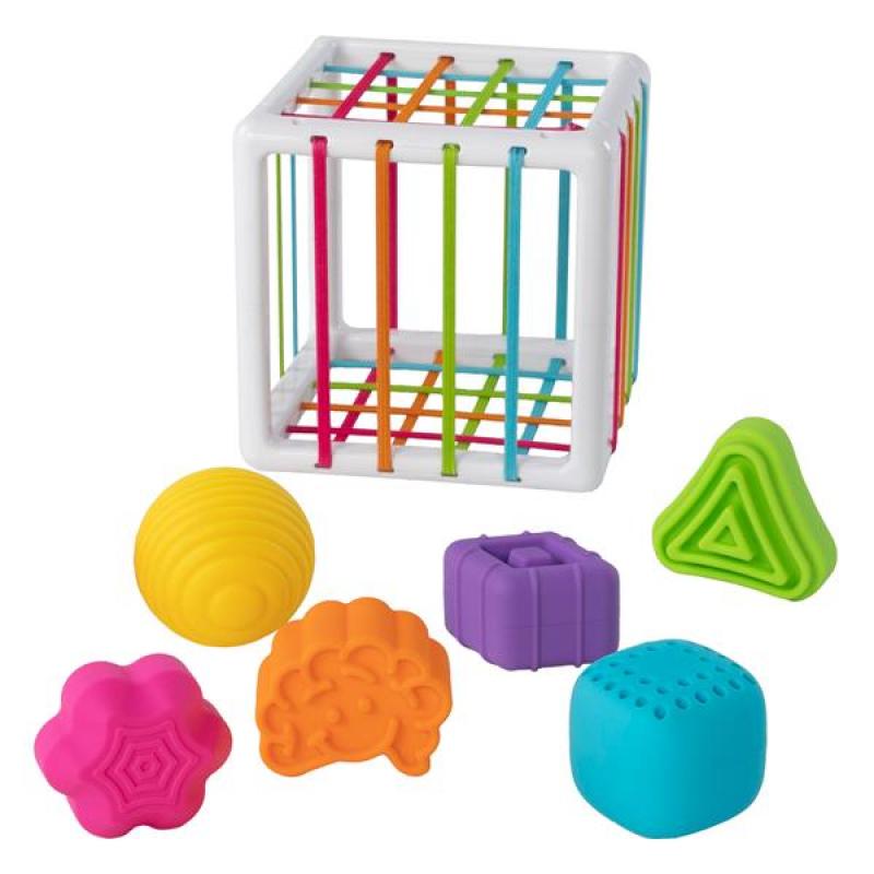 Куб-сортер со стенками-шнурочками Fat Brain Toys InnyBin (F251ML)