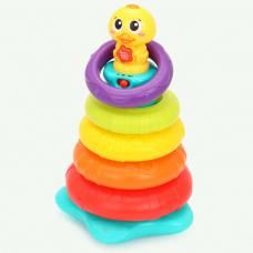 Развивающая игрушка-пирамидка Hola Утенок (2101)