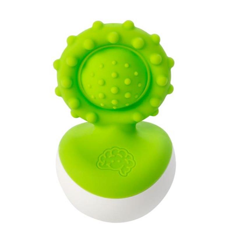 Прорезыватель-неваляшка Fat Brain Toys dimpl wobl Зеленый (F2173ML)