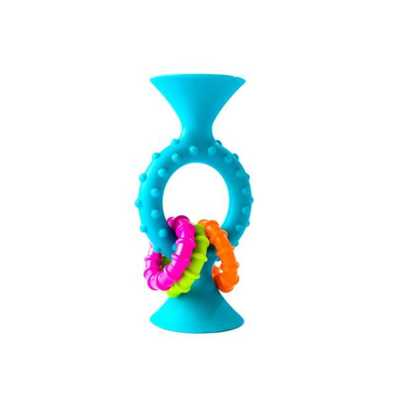 Прорезыватель-погремушка на присосках Fat Brain Toys pipSquigz Loops Бирюзовый (F166ML)