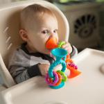 Прорезыватель-погремушка на присосках Fat Brain Toys pipSquigz Loops Оранжевый (F165ML)