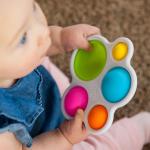 Прорезыватель и тактильная игрушка Нажми на шар Fat Brain Toys dimpl (F192ML)