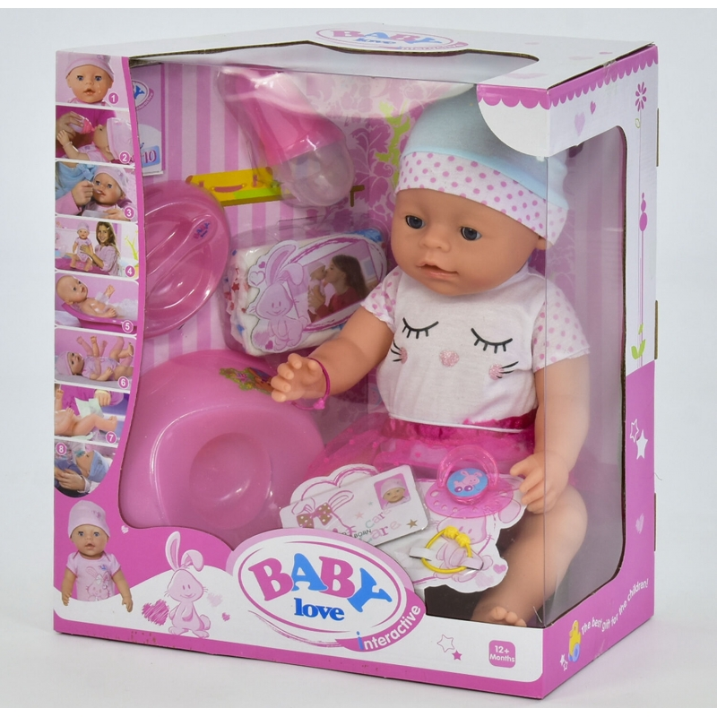 Кукла с аксессуарами Baby Born Baby love (8 функций) (BL 023 D)