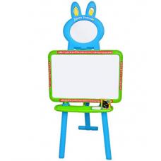 Детский мольберт 3 в 1 Limo Toy 0703 (3 языка) Голубой с зеле