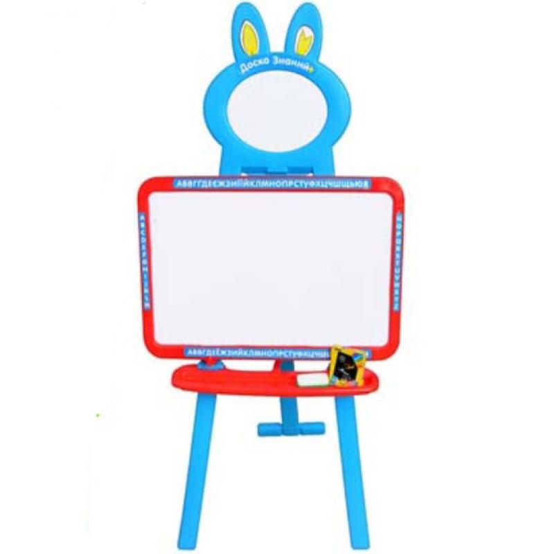 Детский мольберт 3 в 1 Limo Toy 0703 (3 языка) Голубой с красным