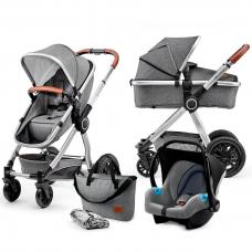 Универсальная коляска 3 в 1 Kinderkraft Veo Gray (KKWVEOGRY30